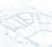 Blueprint house plan Royalty Free Stock Photo