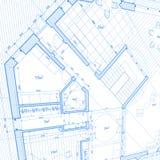 Blueprint house plan Stock Photos