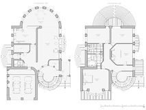 Blueprint house plan Stock Photography