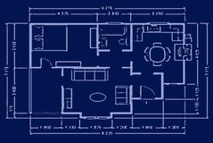 Blueprint - house plan Royalty Free Stock Photos
