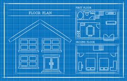Architecture model house with blueprint vector stock vector blueprint house plan architecture stock illustration malvernweather Gallery