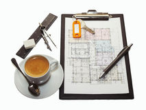Blueprint of house plans Stock Photography
