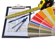 Blueprint of house plans Royalty Free Stock Photos