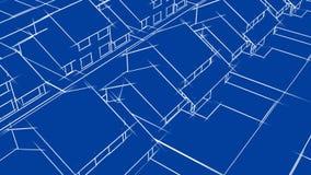 Blueprint Houses Animation (HD Loop)