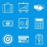 Blueprint icon set. Business Stock Photos