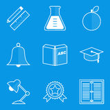 Blueprint icon set. Education Stock Photography