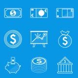 Blueprint icon set. Money Stock Image