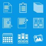 Blueprint icon set. Paper Royalty Free Stock Image