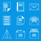 Blueprint icon set. Paper 2 Royalty Free Stock Image