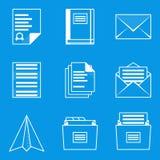 Blueprint icon set. Paper 2 Royalty Free Stock Image