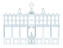 Blueprint of an iconostasis Royalty Free Stock Images