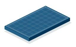 Blueprint isometric background. stock illustration