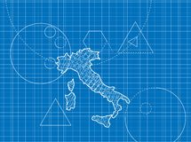 Blueprint of Italy maps Royalty Free Stock Image