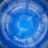 Blueprint le plan de maison et le fond bleu de radial de technologie Photographie stock libre de droits