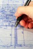 blueprint marking Στοκ Εικόνες