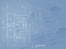Blueprint overlay Stock Images