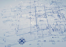 Blueprint overlay Royalty Free Stock Images