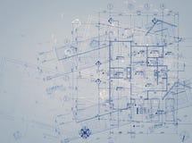 Blueprint overlay Royalty Free Stock Image