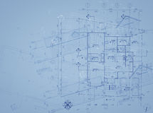 Blueprint overlay Stock Image