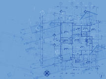 Blueprint overlay Royalty Free Stock Photos