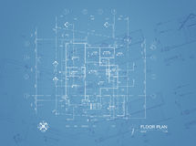 Blueprint overlay Royalty Free Stock Image