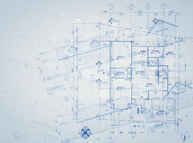 Blueprint overlay Stock Photos