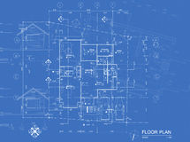 Blueprint overlay Stock Photography