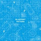 Blueprint Pattern Stock Photography