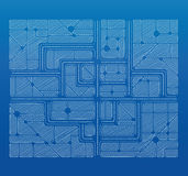Blueprint plan. Blueprint a sketch of the city from above Royalty Free Stock Image