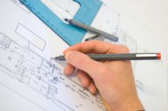 Blueprint project Stock Photos