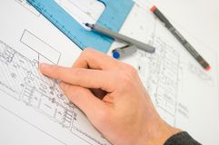 Blueprint project Royalty Free Stock Images