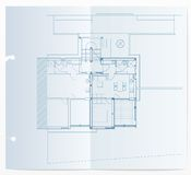 Blueprint realistic Royalty Free Stock Photo