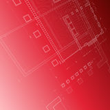 Blueprint red Royalty Free Stock Photos