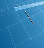 Blueprint ruler Royalty Free Stock Images