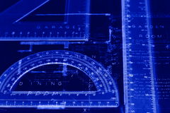 Blueprint ruler A Royalty Free Stock Images