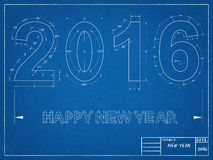 2016 Blueprint Stock Images