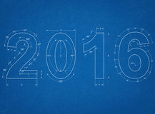 2016 - Blueprint Royalty Free Stock Photos