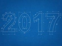 2017 - Blueprint Royalty Free Stock Photo