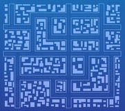 Blueprint. A sketch of the city from above Stock Images