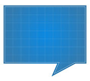 Blueprint Speech Bubble Stock Photo