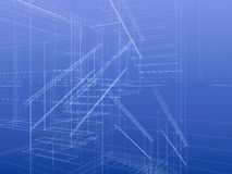 Blueprint staircase. Fragment of staircase inside a house. Planning concept, construction frame Royalty Free Stock Images