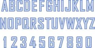 Blueprint style font Stock Photos