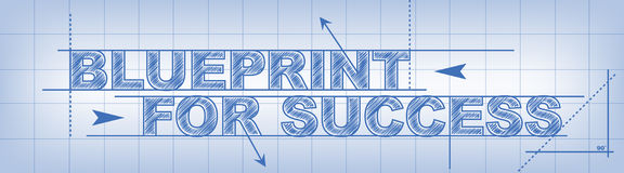 Blueprint For Success Stock Image
