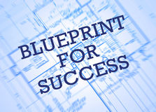 Blueprint for success. Concept with house plans in background Stock Photography