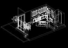 blueprint ilustração stock