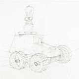 Blueprint of toy car Stock Photography