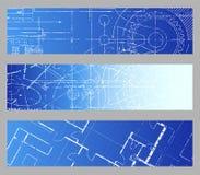 Blueprint Web Banners Stock Photography