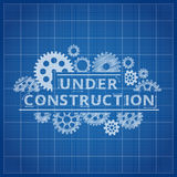 Blueprint website backdrop. Under construction blue print background. For web page illustration Royalty Free Stock Photos