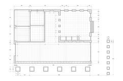 Blueprint on white royalty free stock photo