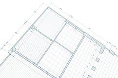 Blueprint on white Royalty Free Stock Images